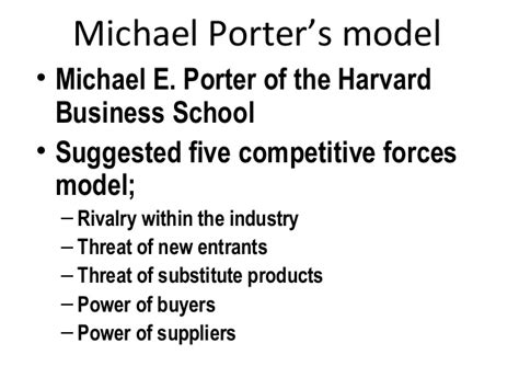 Harvard Business School Mba Concentrations by 6 M Porter S 5 Forces Competitive Model