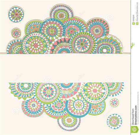 doodle deco picture holder doodle frame stock vector image of pattern henna