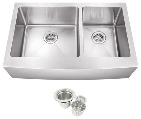 40 kitchen sink stainless steel undermount farmhouse 60 40 bowl