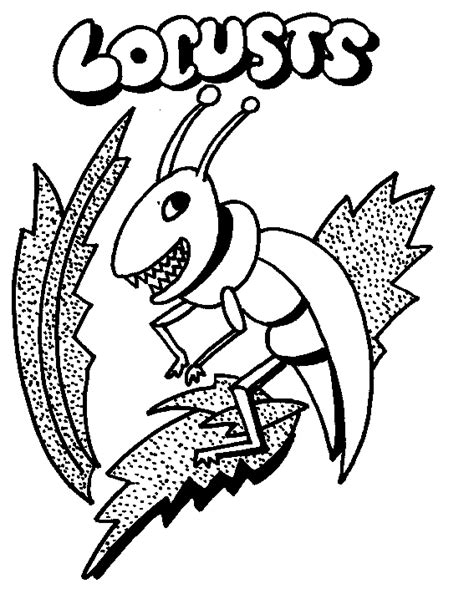 Torah Tots Parsha On Parade Bo Coloring Page Locust Coloring Page