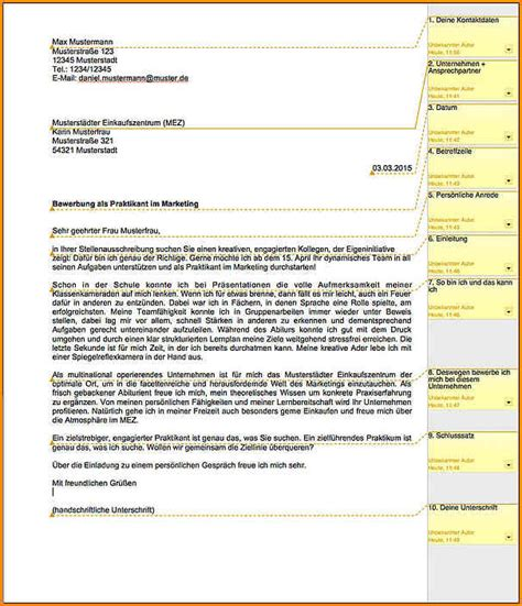 9 bewerbung duales studium muster questionnaire templated