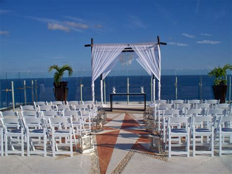 Beach Palace Sky Deck wedding setup   one of the best