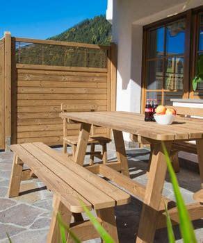 mobili per giardino in legno pircher arredo da giardino in legno