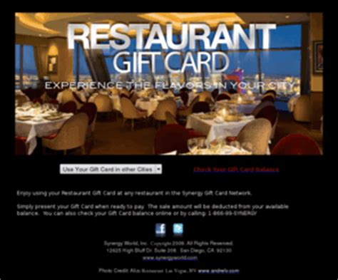 Gift Cards For Multiple Restaurants - synergygiftcard com the synergy gift card network