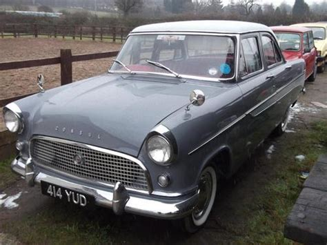 ford consul deluxe 1962 classic bike and car