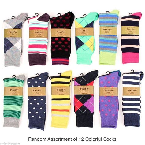 mens dress socks colorful 12 pairs mens colorful dress socks stripes argyle pattern