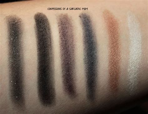 nyx eyeshadow smokey nyx smokey eye palette swatches review confessions of a