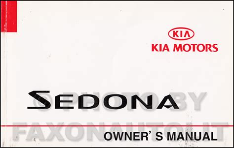 2002 Kia Sedona Repair Manual 2002 Kia Sedona Repair Shop Manual Original