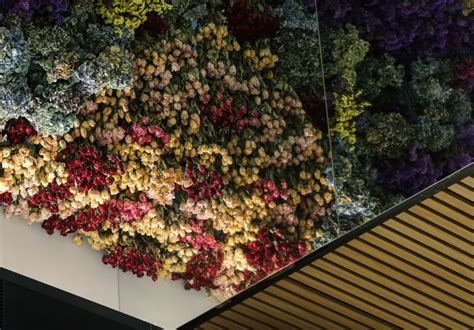 flower roof ceiling gharexpert flower roof ceiling a ceiling of 150 000 flowers unveiled broadsheet
