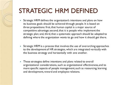 Mba In Strategic Carbon Management by Strategic Human Resource Management Carbon