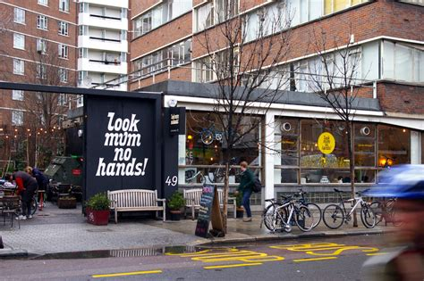 Look mum no hands in clerkenwell london look mum no hands is a cafe and bike workshop what