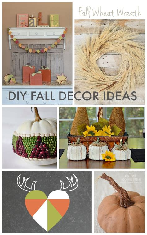 diy fall decor ideas link party features the golden