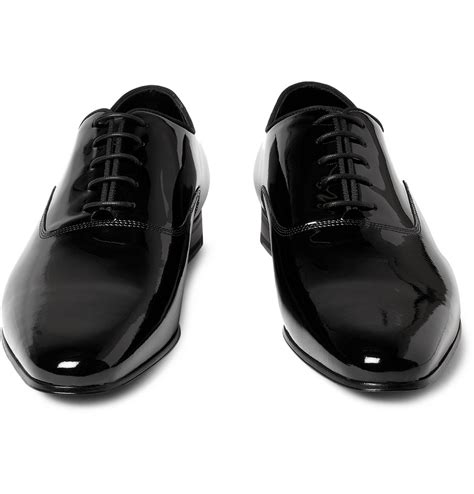 laurent oxford shoes laurent patentleather oxford shoes in black for