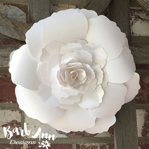 Large Paper Flowers - white and large paper flower backdrop barb designs