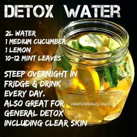 Detox Drink Ingredients by Detox Water For Clear Skin Sports Health Motivation