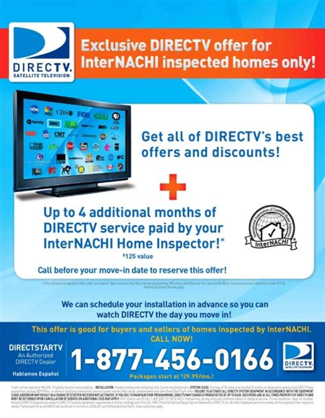 Directv Gift Card Offers - new 2009 offer internachi members clients get 125 visa gift card internachi