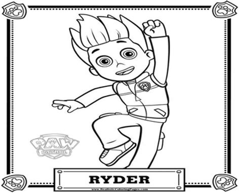 ryder coloring coloring pages
