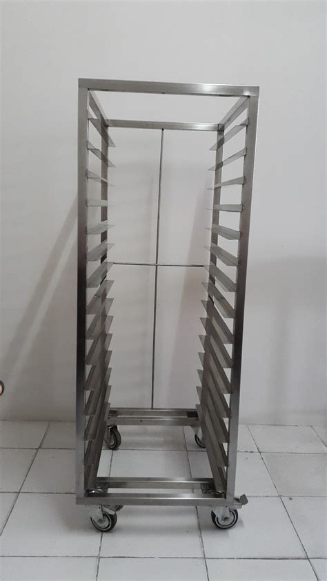 Rak Loyang Roti jual trolly roti tray loyang rak loyang stainles steel