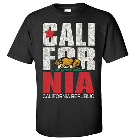 Tshirt Cali new california republic flag t shirt cali ca