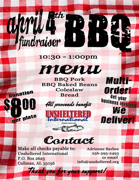 bbq benefit flyers templates related keywords bbq