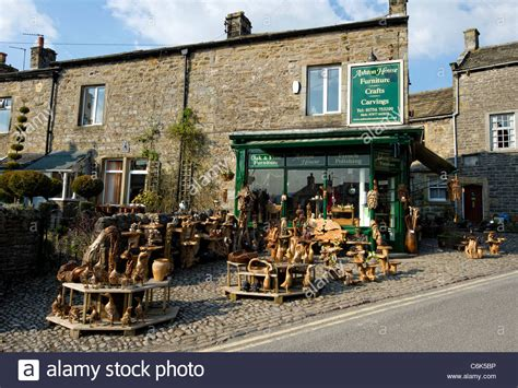 the villages woodworking shop wood crafts shop in the of grassington in