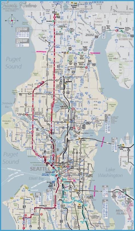 seattle map metro seattle metro map travelsfinders