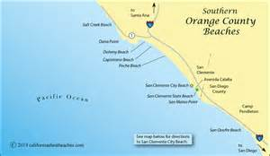 southern california map of beaches san clemente directions