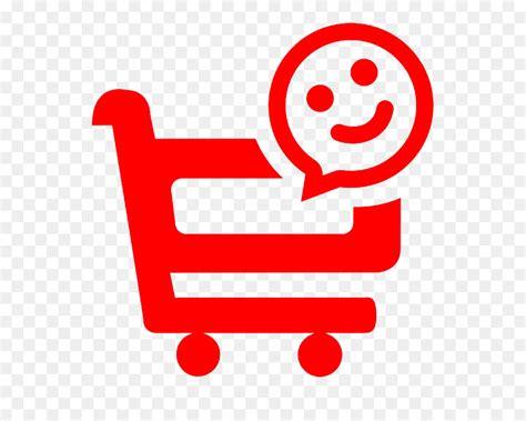 shopping cart smiley face micro logo png