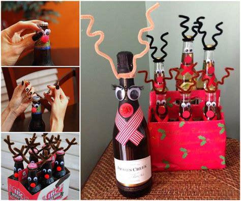 wonderful diy reindeer wine beer bottle for christmas gift
