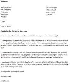 cover letter for a bartender icover org uk