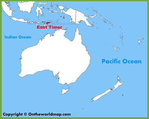 where is east timor on the map east timor located world map