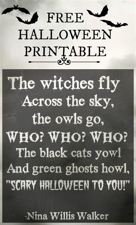 free printable halloween quotes hawthorne and main halloween printable