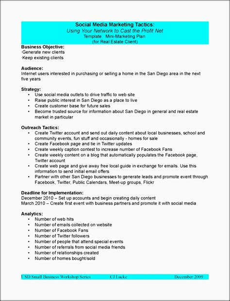 10 Tactical Marketing Plan For Business Sletemplatess Sletemplatess Tactical Marketing Plan Template