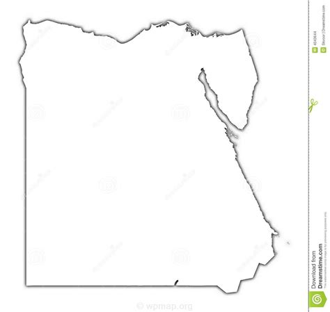 printable country shapes image gallery outline map of egypt