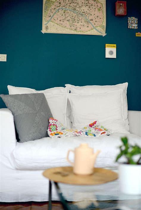 couleur de mur de chambre pouzet le mur bleu canard peinture