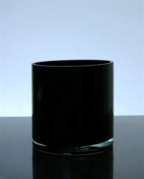 Black Glass Vases Wholesale by Pc606bl Baked Cylinder Glass Vase 6 Quot X 6 Quot 6 P C Black