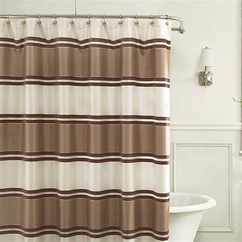 bed bath and beyond shower curtains jardin stripe 72 inch x 72 inch fabric shower curtain in
