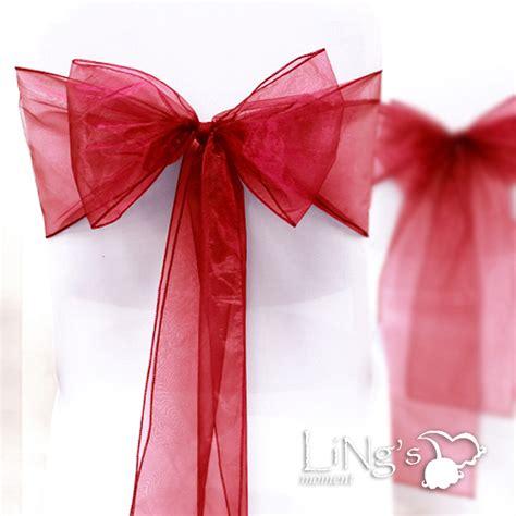 organza chair cover sash bow wedding anniversary