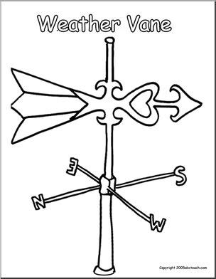 weathervane coloring page coloring page weather vane abcteach