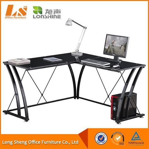 Buy Gaming Desk Metal Glass Gaming Computer Desk Attached The Printer Holder Buy Gaming Computer Desk Glass
