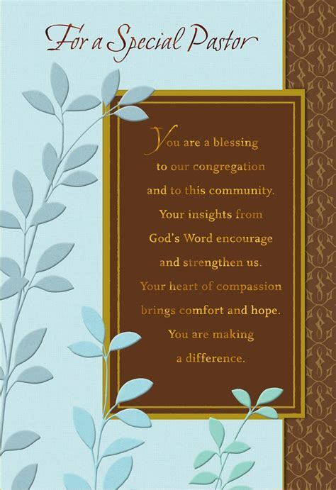 You're a Blessing, Pastor Anniversary Card   Greeting