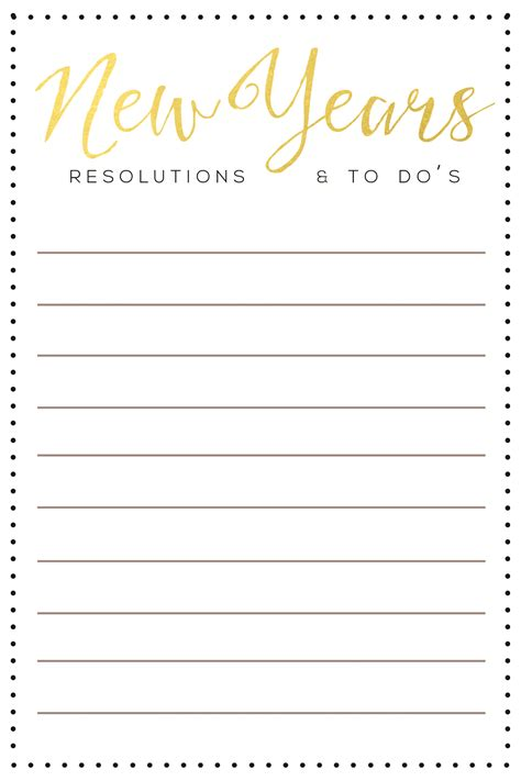 new year template printable new year resolution template merry happy new