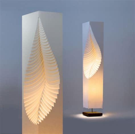 Handmade Lighting Design - leaf moodoonano paper design l on wooden stand by moodoo