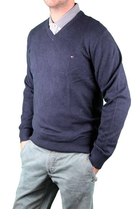 Sweater Temmy Navy hilfiger s sweater navy blue v neck pima ebay