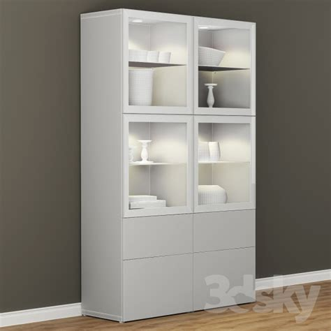 ikea besta display cabinet 3d models wardrobe display cabinets wardrobe showcase