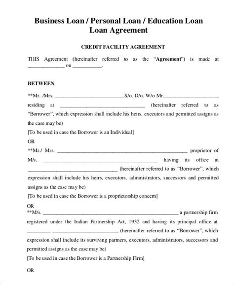 personal loan agreement pdf free personal loan agreement template doliquid