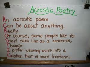 Acrostic name poem acrostic poem for your name this is my name