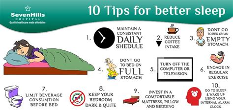 sleep better tips quot 10 tips for better sleep quot sevenhills hospital