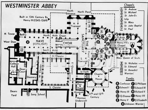 westminster abbey floor plan diagram of westminster abbey drawn at the time of queen