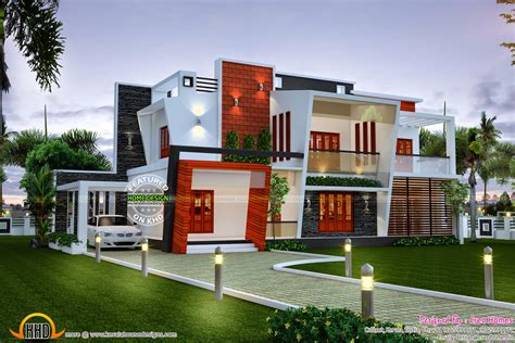 House Plans Kerala Style by Beautiful Modern Contemporary Home Kerala Home Design